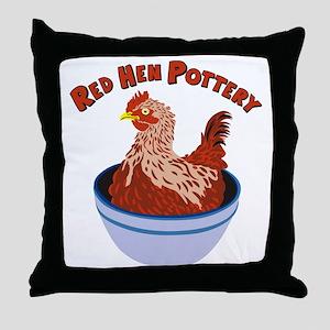 RedHenPotteryLogo Throw Pillow