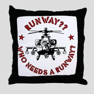 Runway Red Throw Pillow