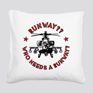 Runway Red Square Canvas Pillow