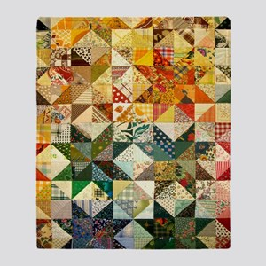 Fun Patchwork Quilt Throw Blanket
