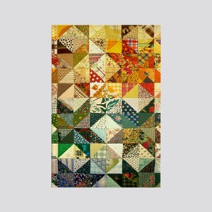 Fun Patchwork Quilt Rectangle Magnet