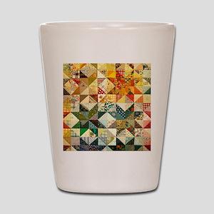 Fun Patchwork Quilt Shot Glass