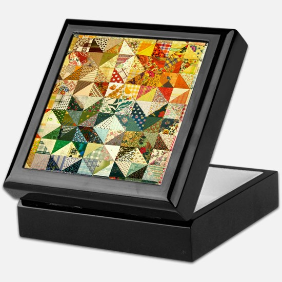 Fun Patchwork Quilt Keepsake Box