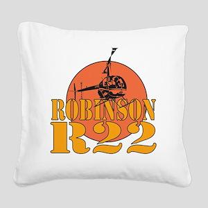 Robinson Red Sun Square Canvas Pillow