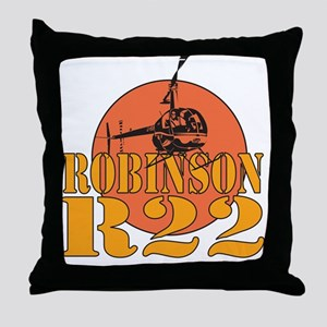 Robinson Red Sun Throw Pillow