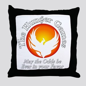 TheHungerGames001dark Throw Pillow