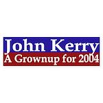 John Kerry: A Grownup for 2004 (sticker)