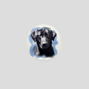 black lab portrait Mini Button