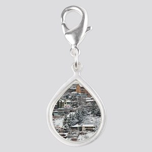 town_view_full_text copy Silver Teardrop Charm