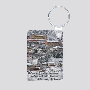 town_view_full_text copy Aluminum Photo Keychain