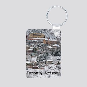 town_view_text copy Aluminum Photo Keychain