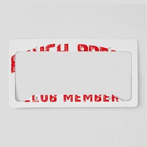 bench press 250 License Plate Holder