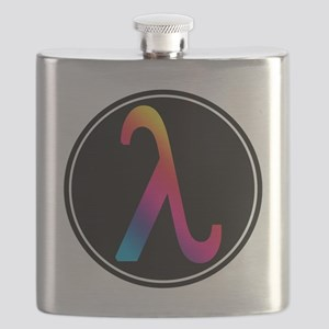 Lambda Badge Flask
