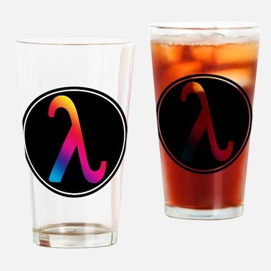 Lambda Badge Drinking Glass