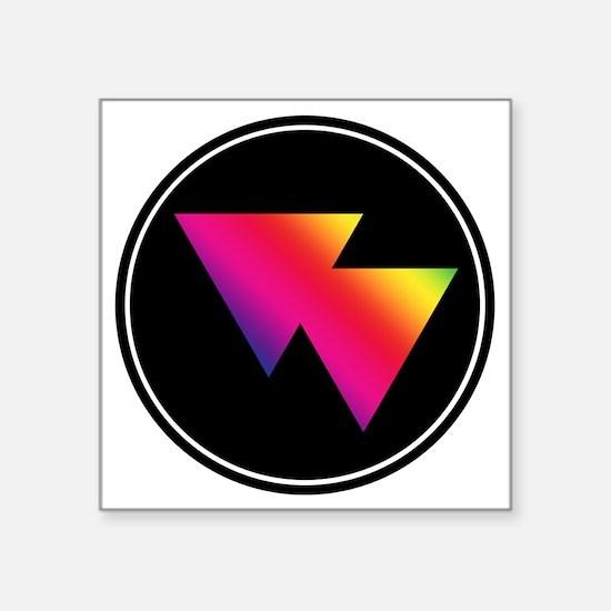 "Bi Badge Square Sticker 3"" x 3"""
