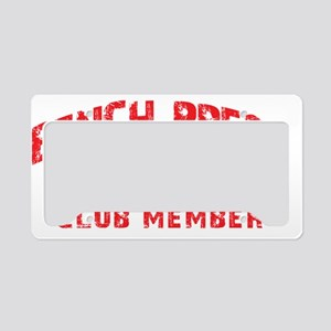 bench press 350 License Plate Holder