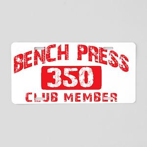 bench press 350 Aluminum License Plate