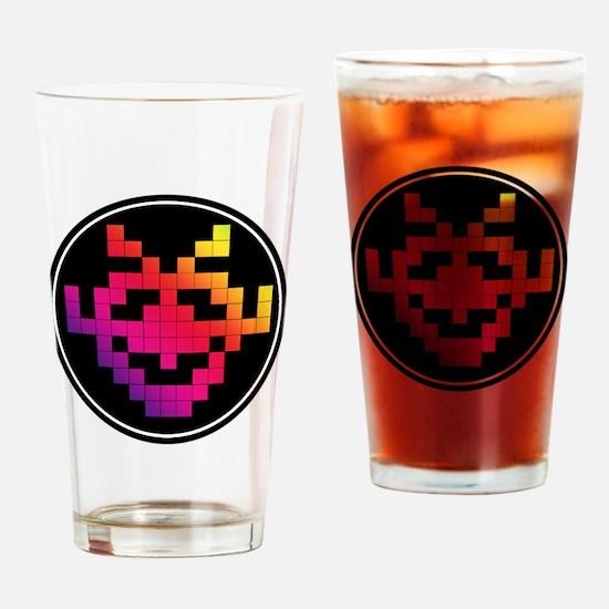 Invader Badge Drinking Glass