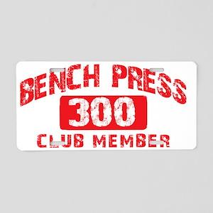 bench press 300 Aluminum License Plate