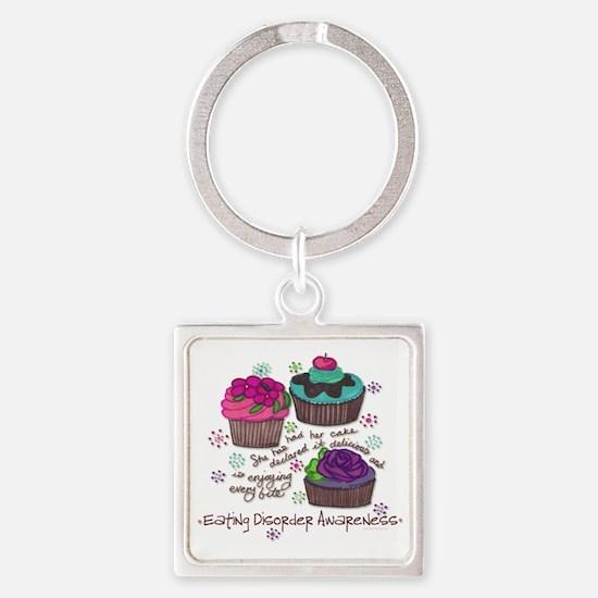 Cupcake Square Keychain