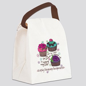 Cupcake Canvas Lunch Bag