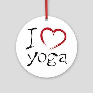 yoga Round Ornament