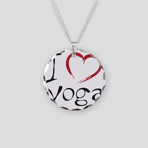 yoga Necklace Circle Charm