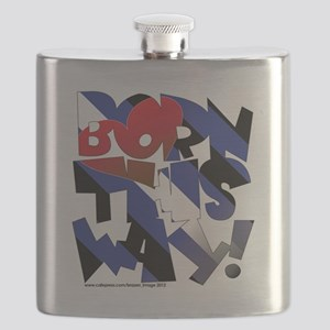 Born This Way leather Flask