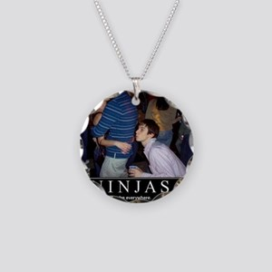 demotivational-poster-ninjas Necklace Circle Charm