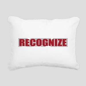 real recognize real_dark Rectangular Canvas Pillow
