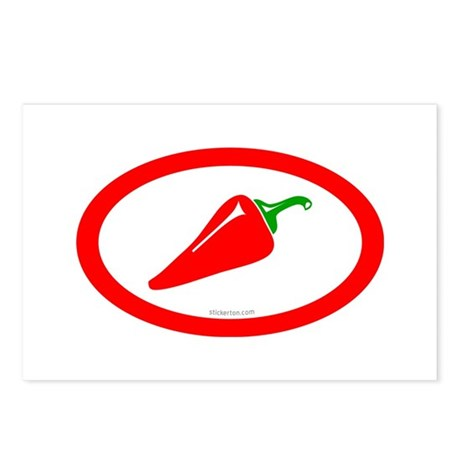 Red Hot Chili Postcards (Package of 8)