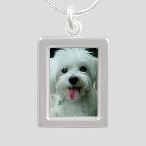 Sadie00 Silver Portrait Necklace