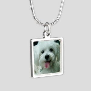 Sadie00 Silver Square Necklace