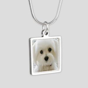 8 Silver Square Necklace