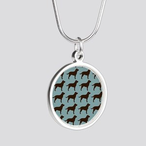 choclabflipflop Silver Round Necklace
