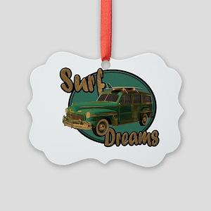 surf dreams green Picture Ornament