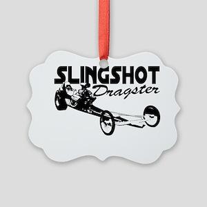 slingshot dragster black Picture Ornament