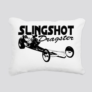 slingshot dragster black Rectangular Canvas Pillow