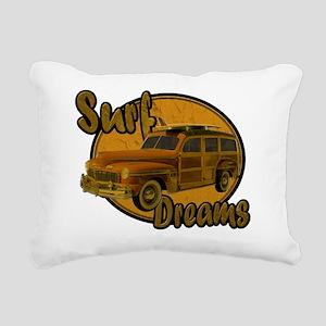 surf dreams brown Rectangular Canvas Pillow