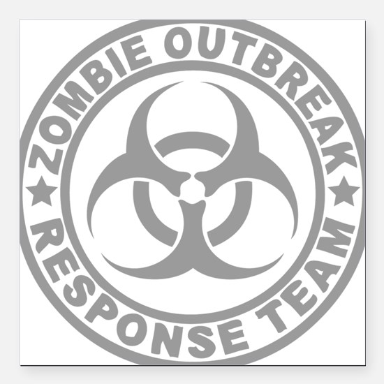 "zombieOutbr1C Square Car Magnet 3"" x 3"""
