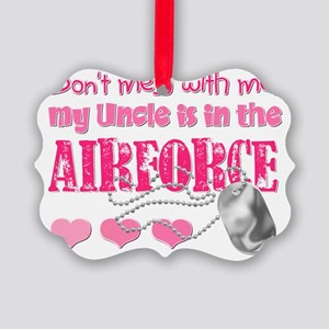 DontMesswithmemyUncleAirForcePink Picture Ornament