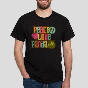 PeaceLovePanda2sq Dark T-Shirt