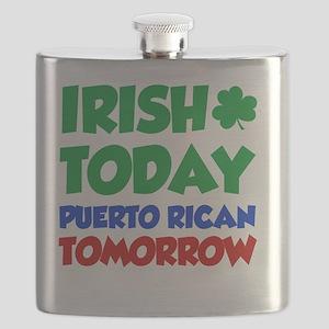 Irish Today Puerto Rican Flask