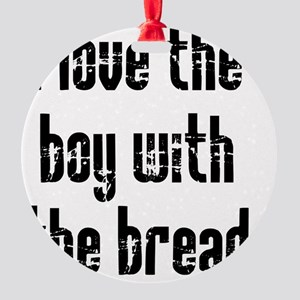 boy with bread-crop TALL Round Ornament