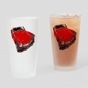 MG motorcar midget Drinking Glass