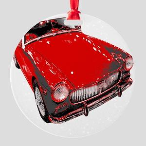 MG motorcar midget Round Ornament
