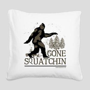 gonesquatchinRESIZED Square Canvas Pillow
