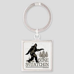 gonesquatchinRESIZED Square Keychain