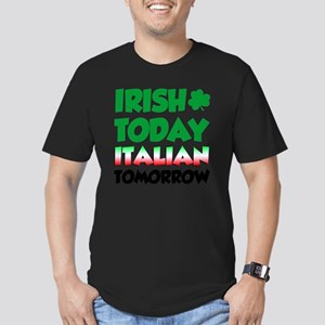 Irish Today Italian To Men's Fitted T-Shirt (dark)