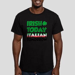 Irish Today Italian To Men's Fitted T-Shirt (dark)